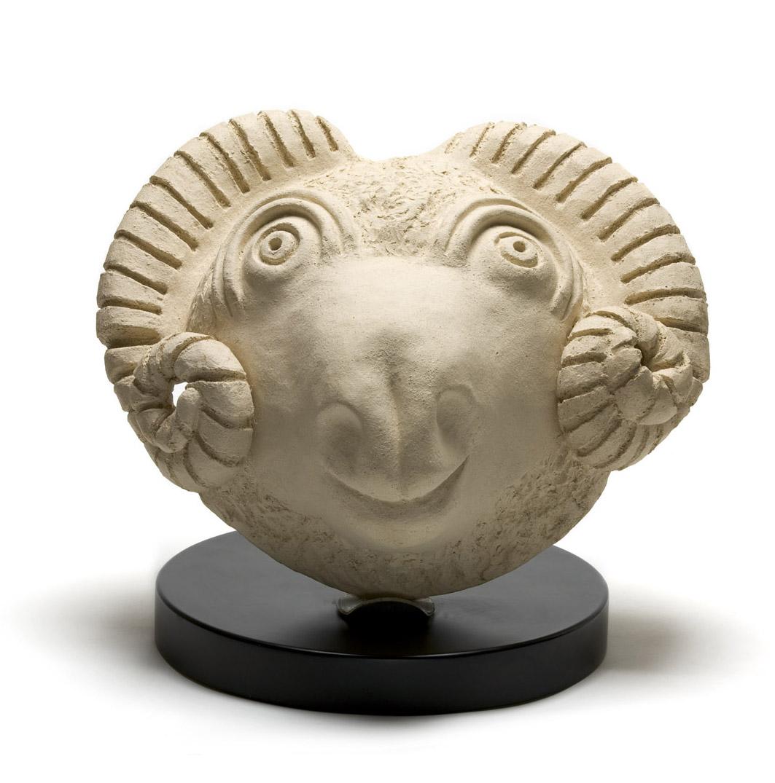 פסל חימר | רות גולן הנל | כבש